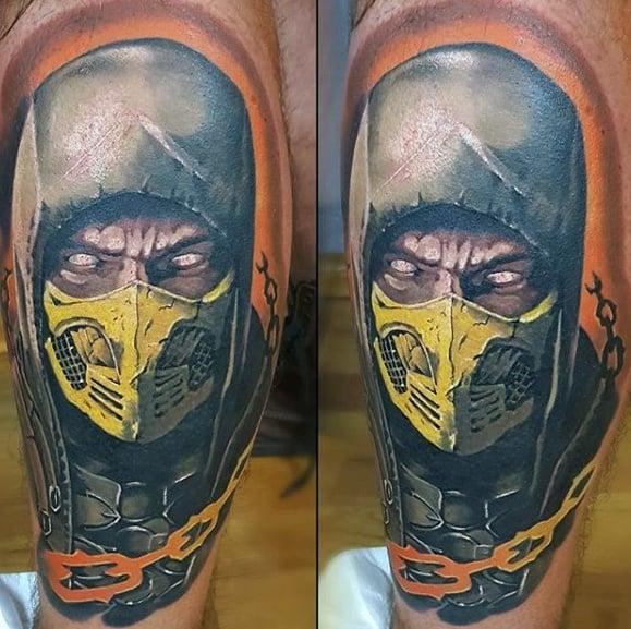 Leg Sleeve Gamer Mens Tattoo Ideas