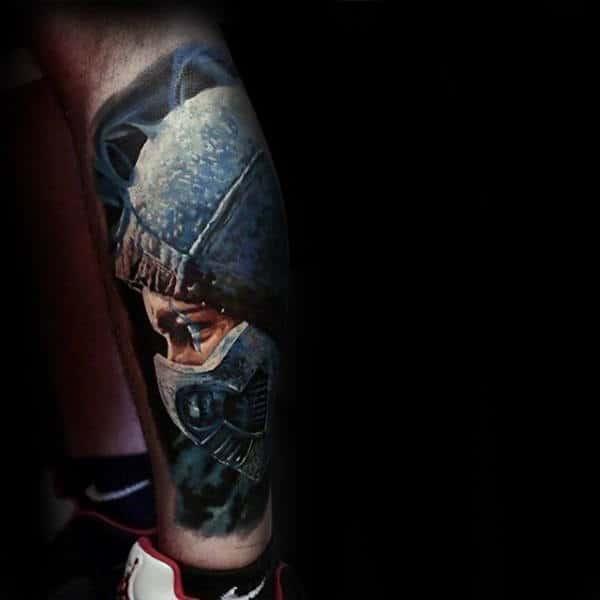 Leg Sleeve Male Mortal Kombat Themed Tattoo Ideas