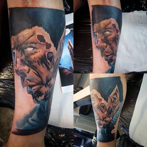 Leg Star Trek Mens Tattoo Designs