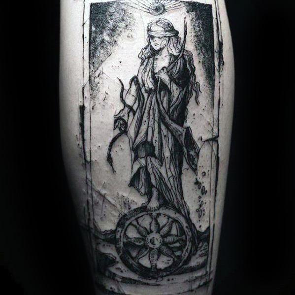 Leg Tarot Mens Tattoo Designs