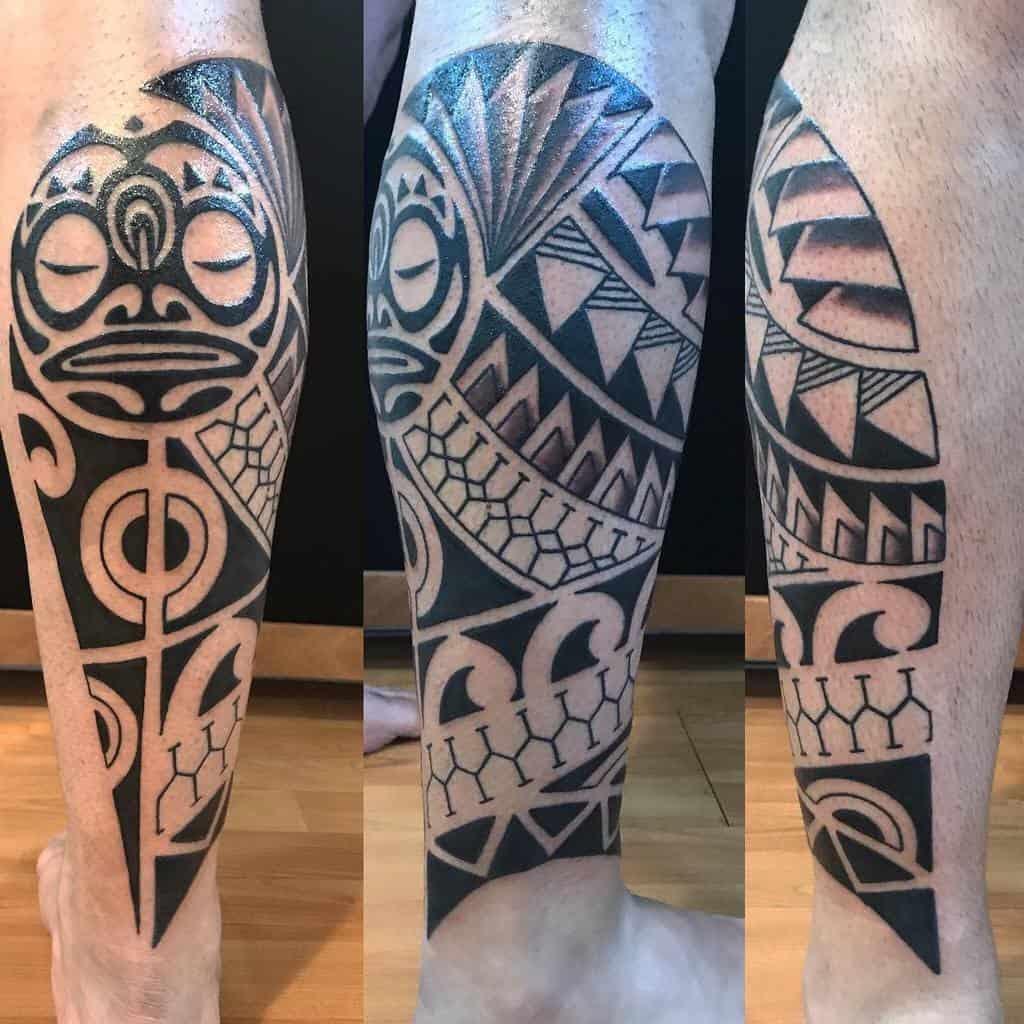 Leg Tiki Tattoo Pellenera