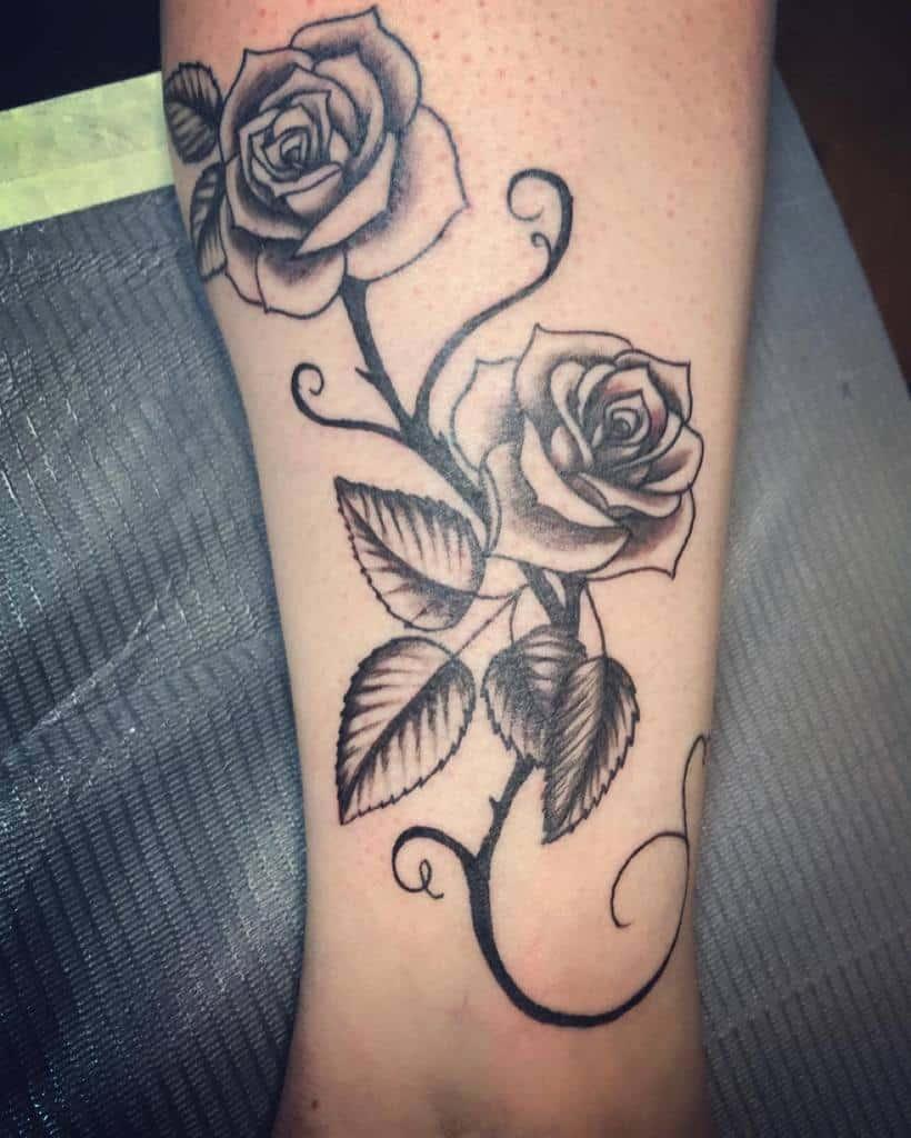 leg tribal rose tattoos christaaaf