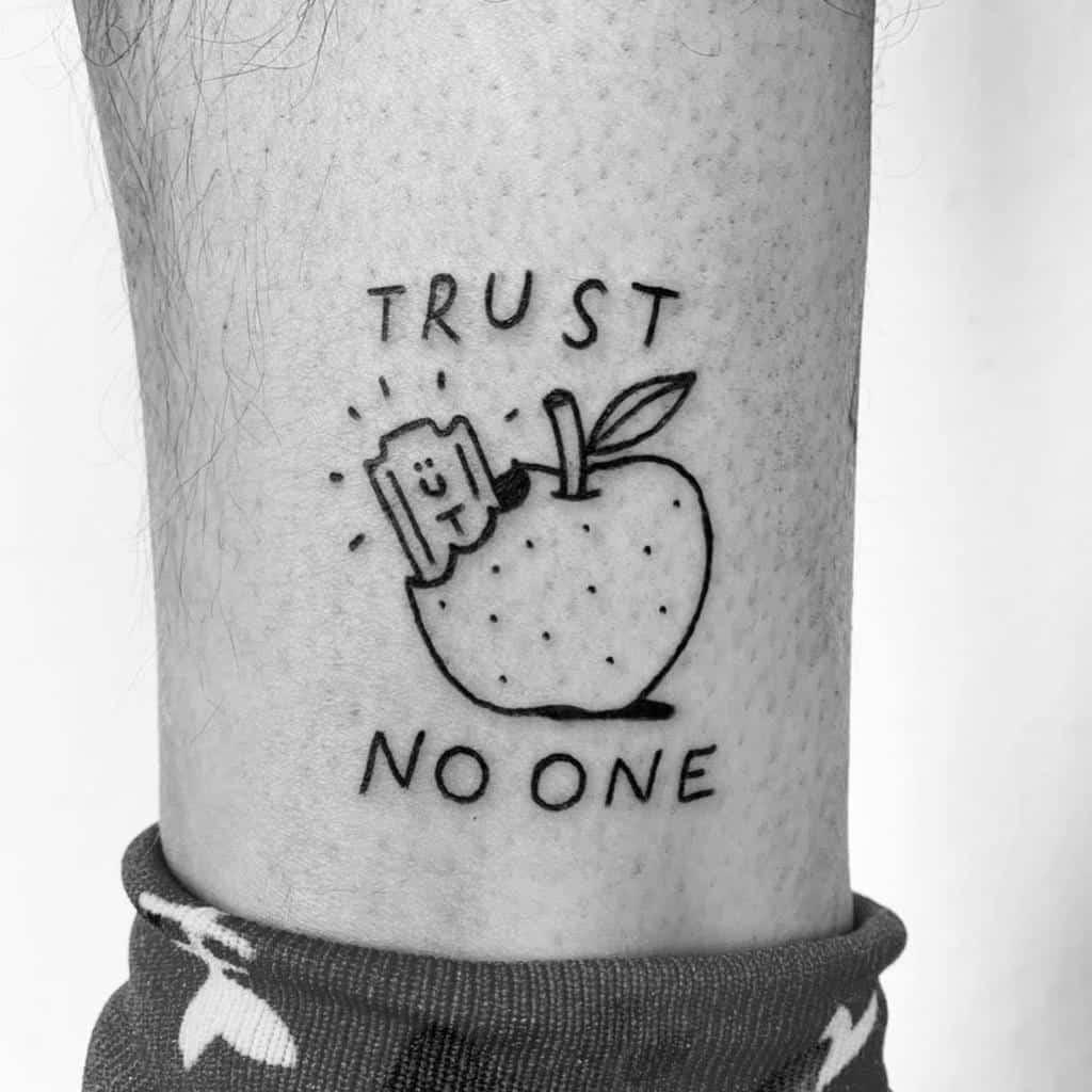 leg trust no one tattoos esco_zcc