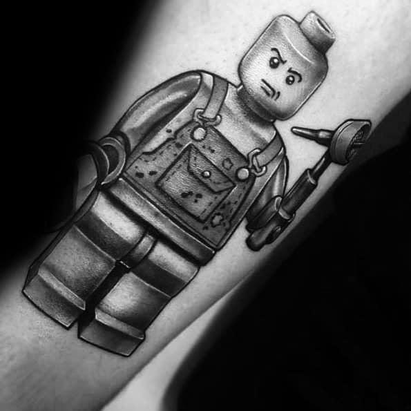 Lego Tattoo Design Ideas For Males