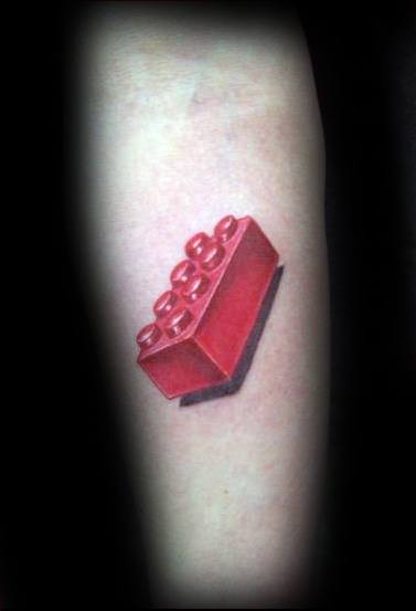 Lego Tattoo Ideas For Gentlemen