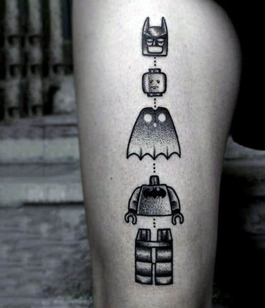 60 Lego Tattoo Designs For Men Toy Building Block Ink Ideas