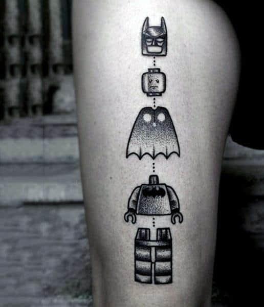 Lego Tattoos Guys