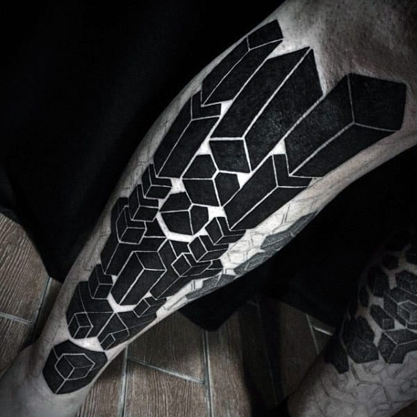 Legs Geometric Art Sacred Tattoo For Men