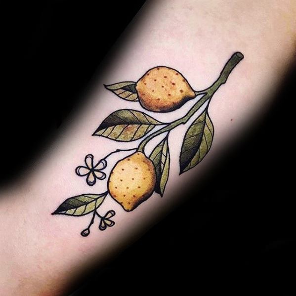 Lemon Mens Tattoo Designs