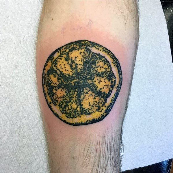 50 Lemon Tattoo Designs For Men - Citrus Fruit Ink Ideas
