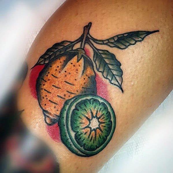 Lemon Tattoo Ideas On Guys