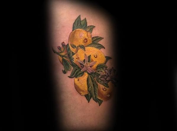 50 Lemon Tattoo Designs For Men - Citrus Fruit Ink Ideas