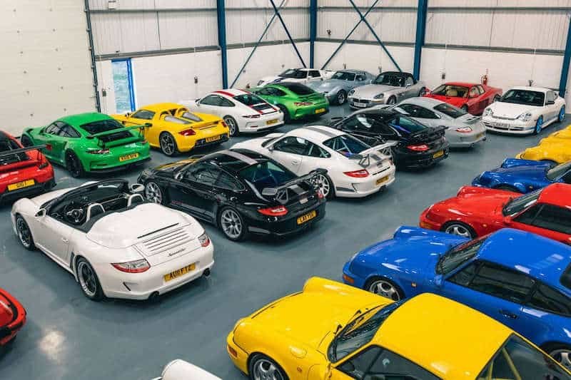 Famed Leonard Car Collection Is Up For Sale and Includes 23 Porsches and a Tank