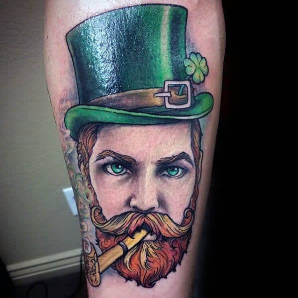 Leprechaun Mens Tattoo Ideas