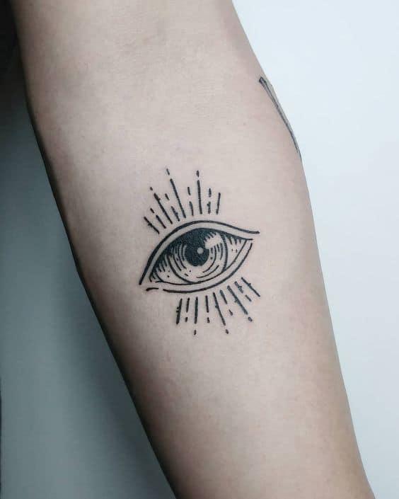 Letter Eye Tattoo