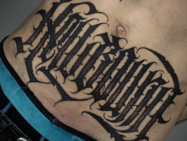 Lettering Numbers Words Styles Of Tattoo