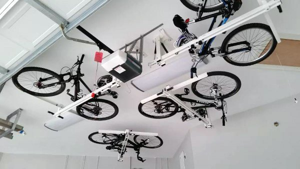 Lift Garage Ceiling Bicycle Storage Ideas