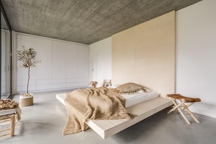 Light Bedroom Wood Ceiling