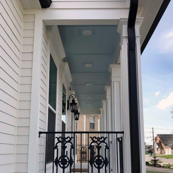 Light Blue Outdoor Porch Ceiling Design