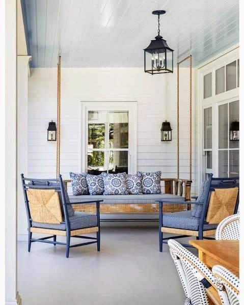 Light Blue Paint Remarkable Ideas For Porch Ceiling