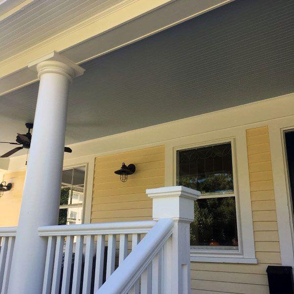 Light Blue Porch Ceiling Outdoor Ideas