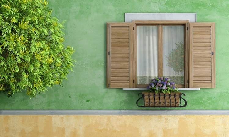 Light Brown Stucco Exterior Window Trim