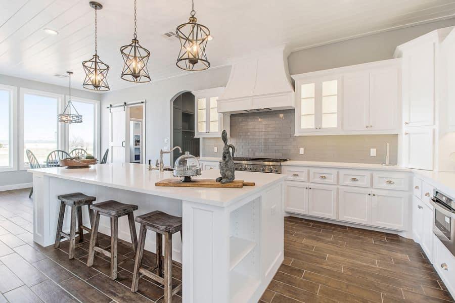 Light Fixtures Modern Farmhouse Kitchen 1