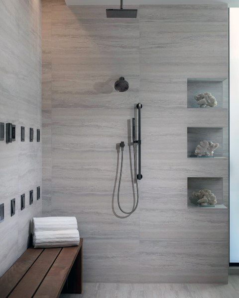 Light Grey Tiles For Bathroom: 70 Bathroom Shower Tile Ideas