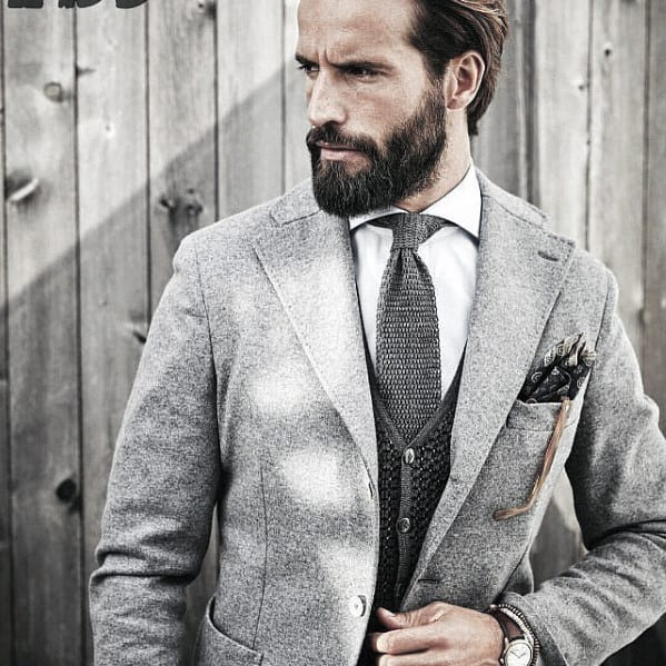 Light Grey Suit Modern Professional Beard Style Ideas For Guys