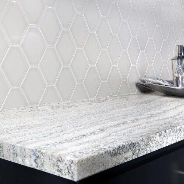 Light Grey Tiles With White Grout Kitchen Backsplash Ideas
