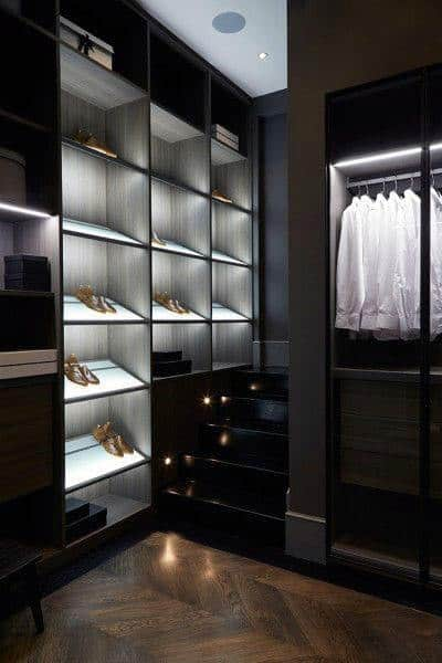 Light Up Closet Shelf Design Inspiration For Guys