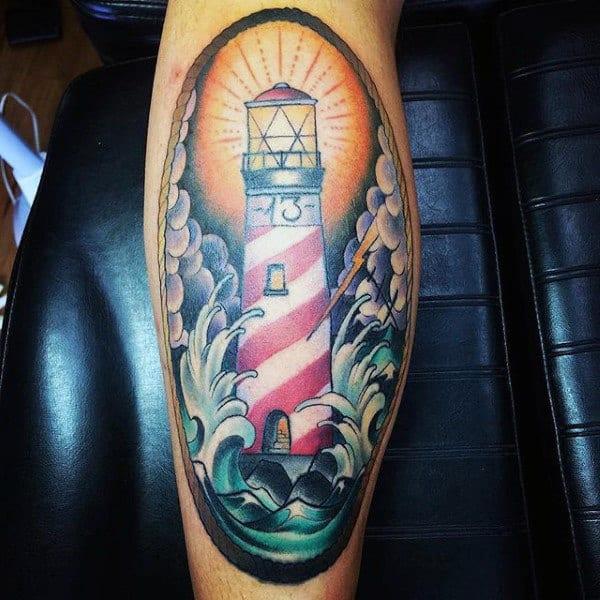 Lighthouses Tattoos For Guys