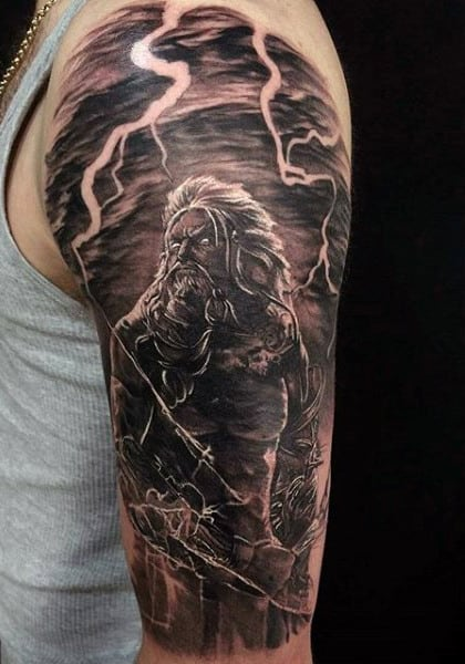 Lightning Greek Orthodox Men's Tattoos