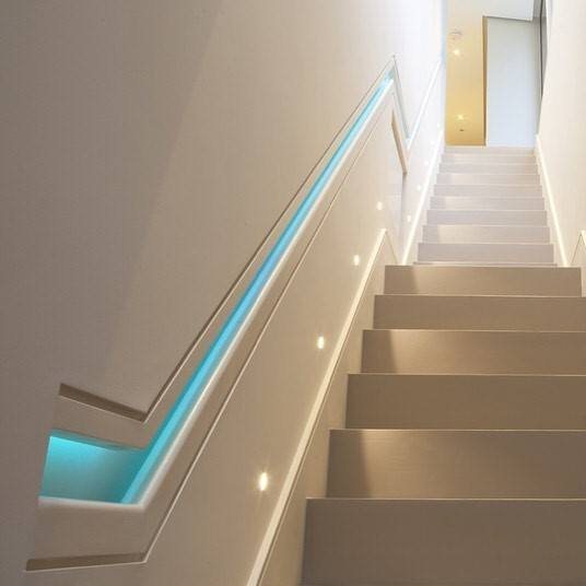 Lighting Basement Washroom Stairs: Top 60 Best Basement Lighting Ideas