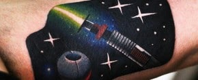 60 Lightsaber Tattoo Designs For Men – Star Wars Ink Ideas