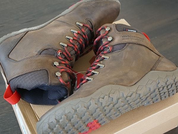 Lightweight Leather Mens Hiking Boots Vivobarefoot Tracker Fg