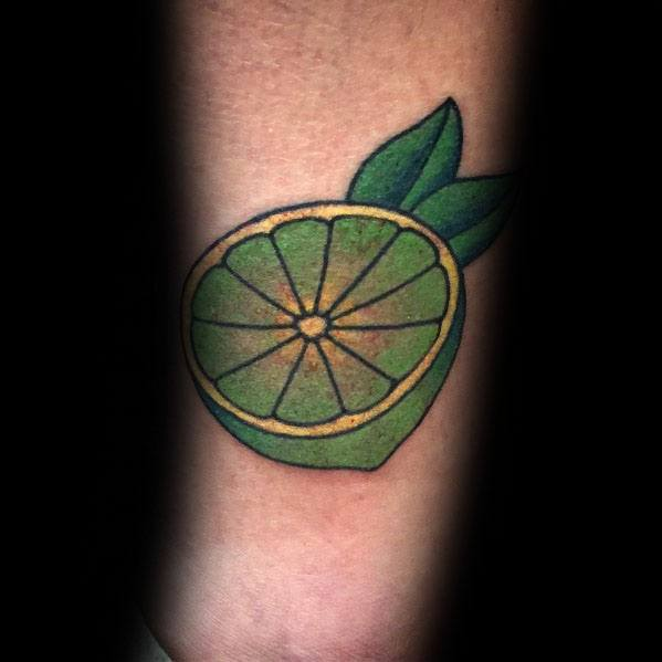 Lime Themed Tattoo Ideas For Men