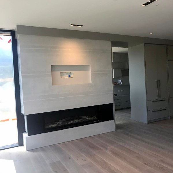 Linear Fireplace Cool Interior Ideas