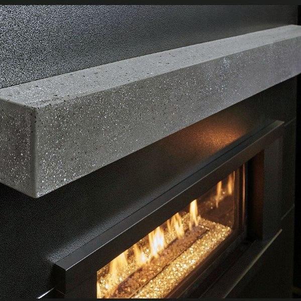 Linear Fireplace Design Idea Inspiration