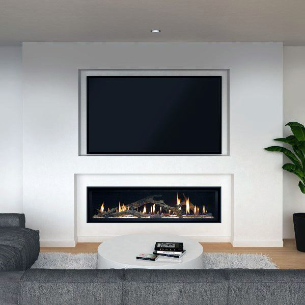 Linear Fireplace Design Ideas