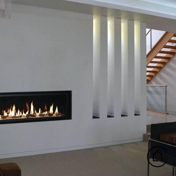 Linear Fireplace Design Inspiration