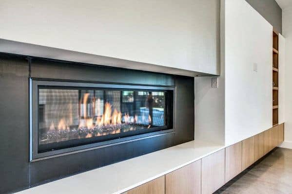 Linear Fireplace Home Designs