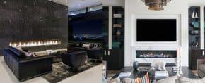 Top 60 Best Linear Fireplace Ideas – Modern Home Interiors