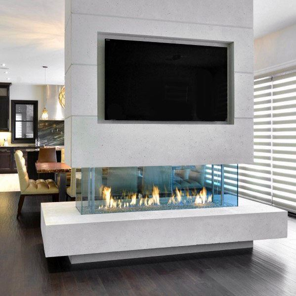 Linear Fireplace Ideas Inspiration