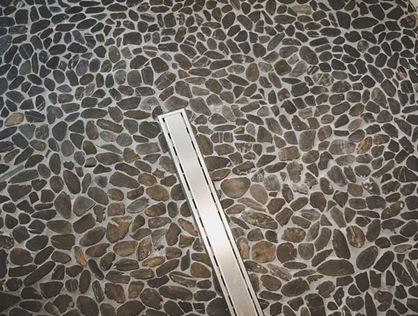 Linear Shower Drain With Pebble Stone Tile Floor Las Vegas Nevada 2019 New American Home