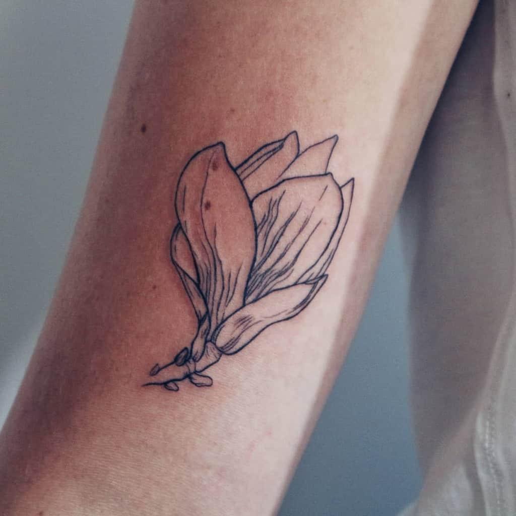linework magnolia tattoos nat_grimm_ink