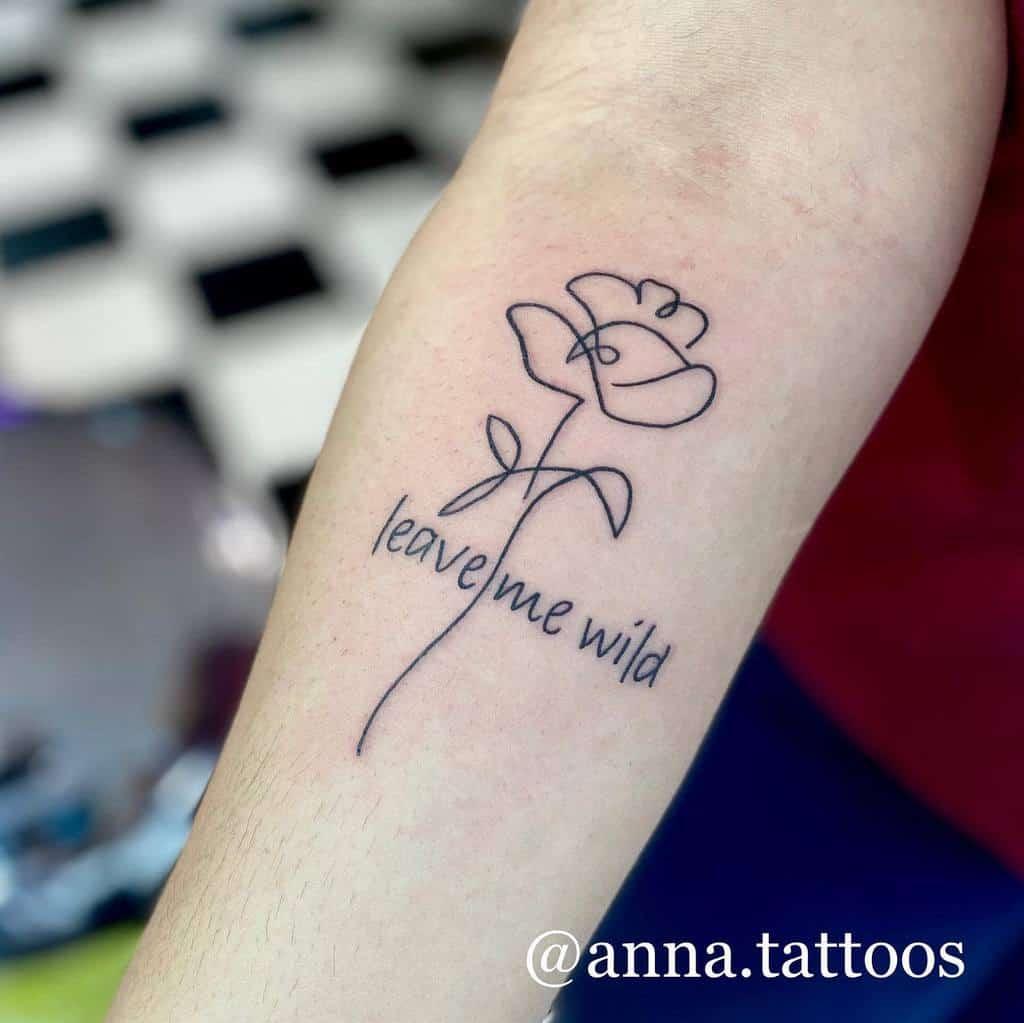 linework simple rose tattoos anna.tattoos
