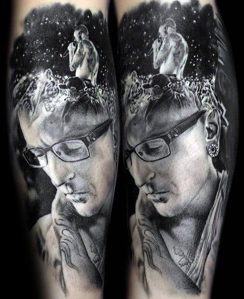Linkin Park Guys Tattoo Designs 3d Forearm