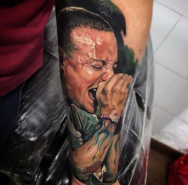 Linkin Park Mens Tattoos On Forearms