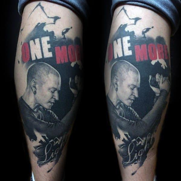 Linkin Park Tattoo Designs For Men On Back Of Leg